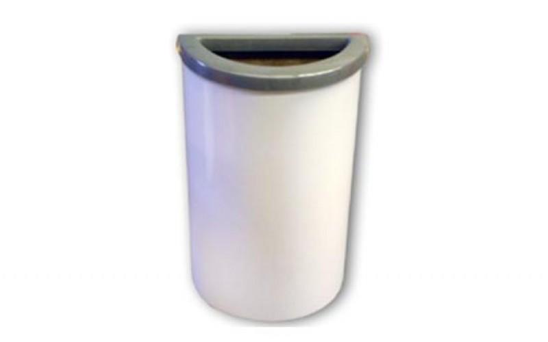 Detalhes do produto LIXEIRA TUBO ½ LUA COM TAMPA ARO